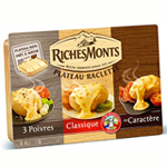 Richesmonts Assortiment Raclette 27 tranches 700g à 9,83 €