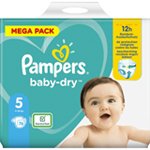 Pampers Baby-Dry 11-16kg taille 5 x76 à 26,90 €