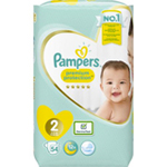 Pampers New Baby Géant 3-6kg taille 2 x54 à 12,79 €