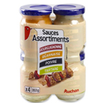 Auchan Assortiment de Sauces x4 360ml