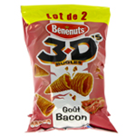 Bénenuts 3D'S Bugles Bacon 2x85g