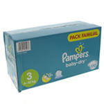 Pampers Baby-Dry Pack Familial 6-10kg taille 3 x120